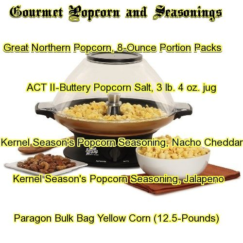 popcorn and popper cookers plus seasonings