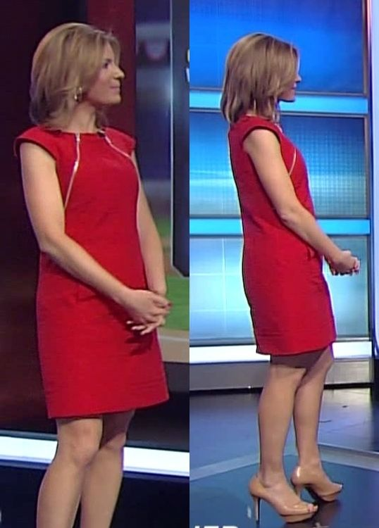 Jen Carfagno Red Hot Dress