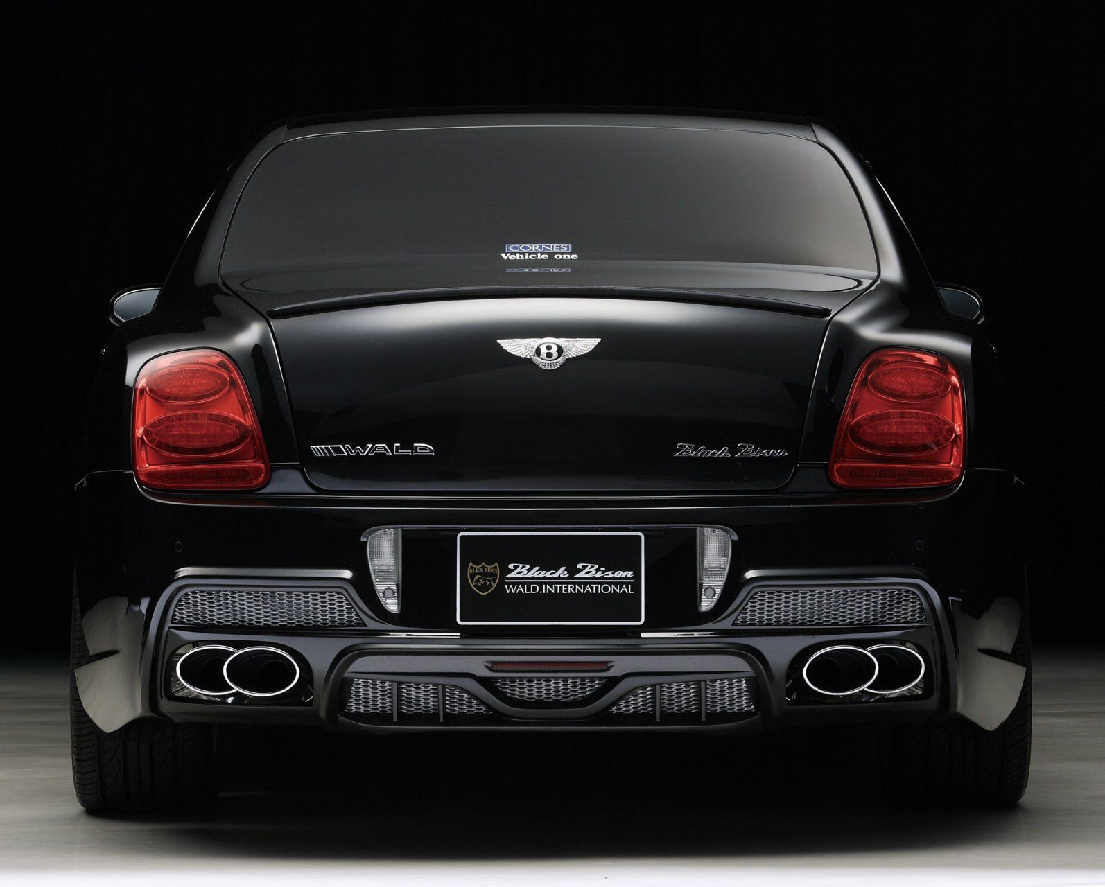 Bentley continental flying spur black bison by wald only cars click images for a larger view vanachro Choice Image